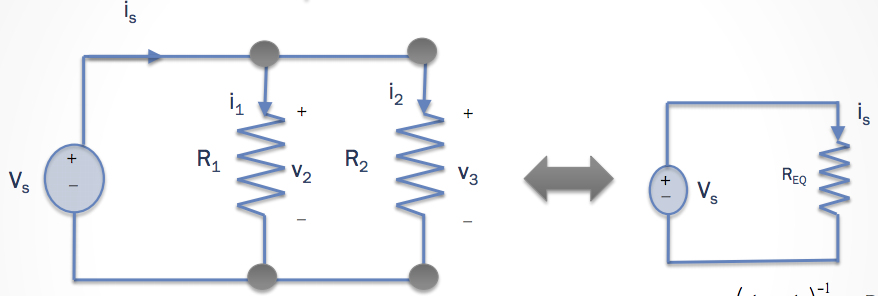 how to find equivalent resistance in series and parallel